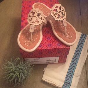 Tory Burch Scallop Miller Sandals Pink & Tramonto